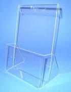 Prospekthalter aus Acrylglas